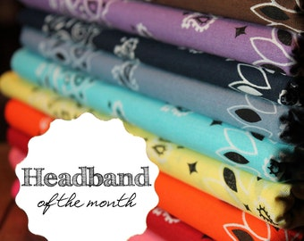 Wide Bandana Headband of the Month Headwrap Monthly Subscription Gift for Her Gift Idea for College Student Bandanna Hair Band S M L X