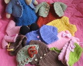 Most adorable crochet bunny with bundle of clothes 5 outfits in lovely colors