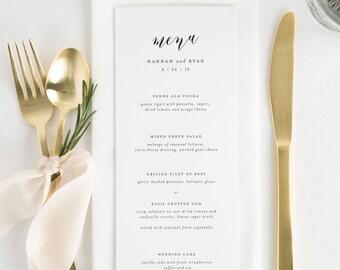 Everly Dinner Menus - Deposit