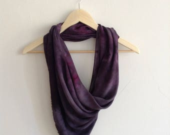 Hand Dyed Purple Soft Draped Scarf