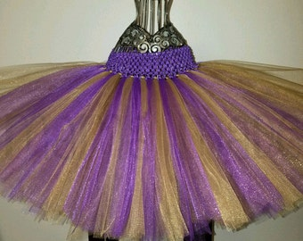 Shimmer Purple and Gold Tutu,gold and purple tutu girls tutu,flower girl tutu,birthday tutu,full tutu,photo prop tutu,wedding tutu,baby tutu