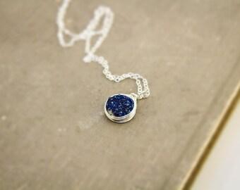 Blue Druzy, Druzy Necklace, Druzy, Druzy Quartz, Druzy Pendant, Blue Necklace, Drusy Necklace, Drusy Jewelry, Gifts Under 50, Gifts for Her