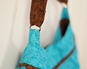 SALE!!! Brown & Aqua Purse
