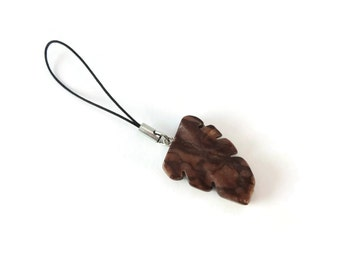 Two Tone Brown Leaf Charm for Zipper Pull, Zebra Jasper Friendship Charms Zipper Pull, Zipper Pulls for Purses or Backpack Charm Brown Stone