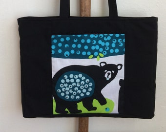 Blueberry Bears Large Tote Bag