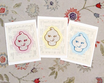 Saucy Cupcake LitKids Foodie Prints, Discounted Set of Three