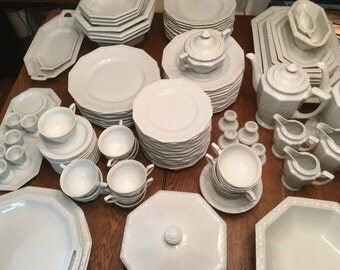 "Rosenthal ""Maria"" White Dinnerware 97 Piece Set"