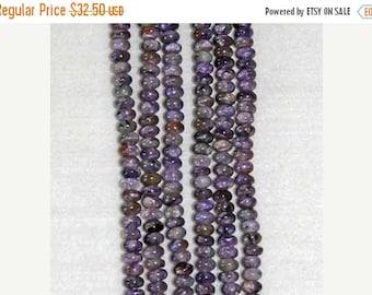 Charoite Rondelle, Grade A, Natural Stone, Charoite Bead, Gemstone, Purple Stone, Purple Bead,   Strand, 6mm, Russia