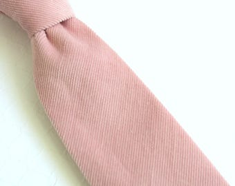 Dusty Thistle Pink Corduroy Neck Tie