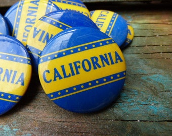 Vintage CALIFORNIA button sports fan art craft supplies