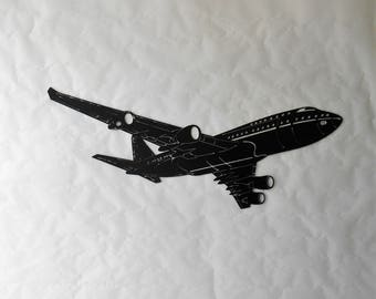 Airplane Metal Wall Decoration Passenger Boeing 747