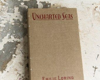 1932 UNCHARTED SEA Vintage Grid Wedding Guestbook/Travel Journal