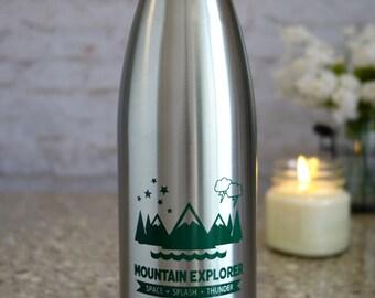 mountain explorer, disney mountain, space mountain, splash mountain, big thunder mountain, disney vacation water bottle, disney bounding