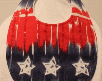 Stars and Stripes Flannel / Terry Cloth Bib