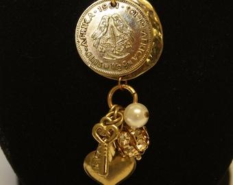Coin Necklace- Birds