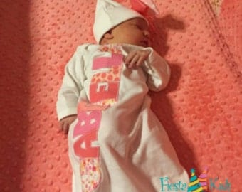 Infant girl outfit, newborn girl coming home outfit, baby girl photo outfit, baby gown, baby hats, infant clothes