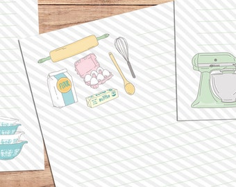 Bakeology - A5 Stationery - 12, 24 or 48 sheets