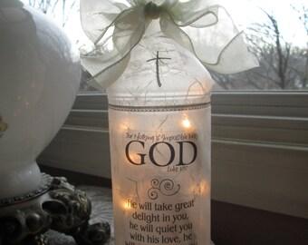 Lighted Wine Bottle, Christian, gift ideas, lighted bottles, wine bottle lamps, wine bottle light, lighted wine bottles, lamp, lamps, sister