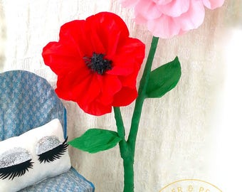 Free Standing Paper Flowers - Large Paper Flowers