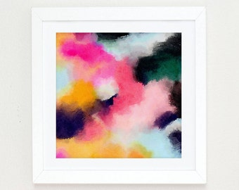 Watercolor Abstract Painting, abstract watercolor pink, black and white wall art, Colorful Modern Art Abstract Print, abstract art painting