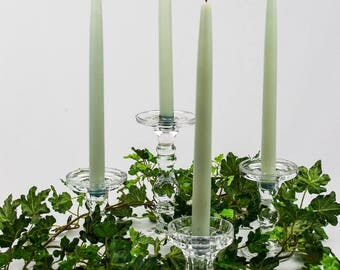 50% Off  Crystal and Glass Pillar or Taper Candleholders Set of Five