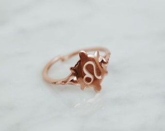 astrology little finger ring- sterling silver - free shipping