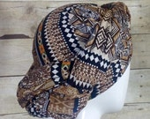 Brown and Black African Print Scarf