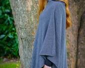 Blarney Woollen Mills Irish Julie Wool Poncho Wool and Polyamide WARM and LIGHTWEIGHT