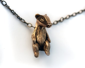 English badger pendant
