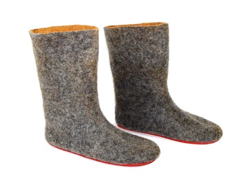 Unisex Valenki Wool Boots Custom Color, Rugged Outdoor Soles, Unisex Felt Shoes, Snow Boots, Wool UGG Boots, Winter Boots, Handmade Boots