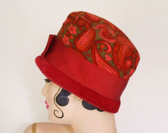 Red Paisley Hat, 1960s