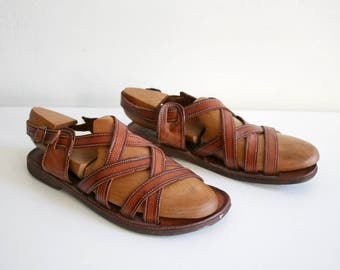 Leather Strappy Sandals 8