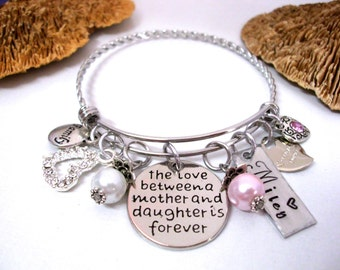 Mother and Daughter Jewelry, Mother Daughter Bracelet, Mother Daughter Jewelry, The Love Between a Mother and Daughter is F