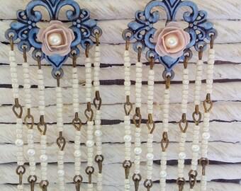 Blue charm bohemian earrings