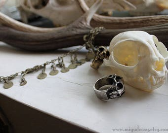 Ready to Ship Miyu Decay Geminus Ring in Brass and Sterling Silver