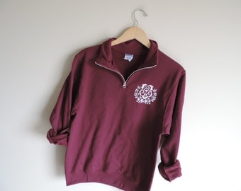 New Chi Omega Crest 1/4 Zip Pullover Sweatshirt // Size S-2XL // YOU PICK COLOR