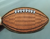 Rugby Patches - Iron on Patch or Sewing on Patch Brown Patches Rugby Ball Patch Sport Embellishments Embroidery