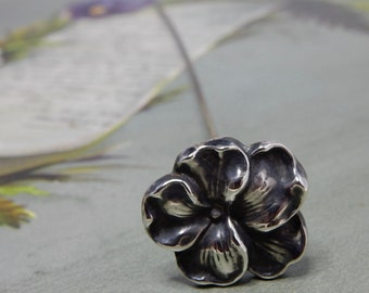 Sterling Silver Flower Pansy Hatpin Hat Pin   NDT23
