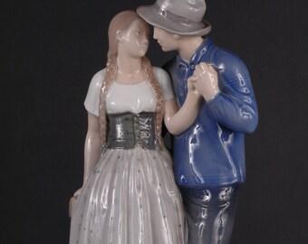 Royal Copenhagen, Henrik & Else, Large Figurine Group, #3049