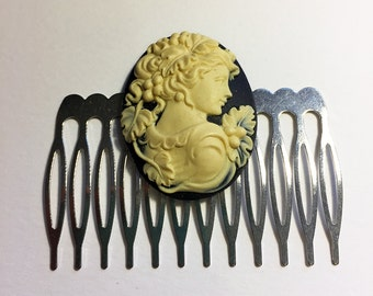 Victorian Lady Cameo Hair Comb Jewelry