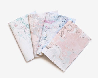 pastel marbling notebook / hand made designed journal / A5 minimalist diary