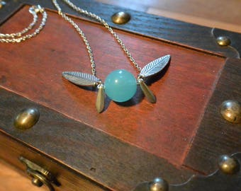 Magical Zelda Fairy Necklace - Blue Pixie with Silver Wings