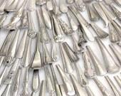 Fork Spoon Ends Silver plated Blanks Flatware Bracelet Ring Supply Old Vintage Handle Part Wholesale Handles Metal Stamping parts wholesale