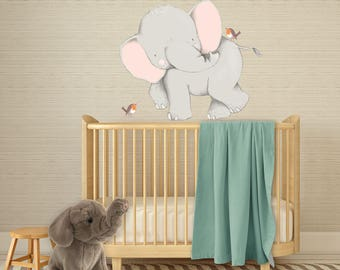 Elephant Wall Decal - Elephant Decal - Elephant Wall Sticker - Elephant Decor - Elephant Wall Art - Elephant Nursery - Safari Nursery Decor