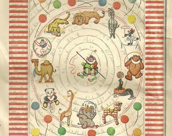 Circus Animal Quilt Embroidery Applique Quilt Pattern Simplicity 7279 Unused FF