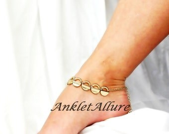 Simple Chain Anklet Vintage Jewelry Gold Ankle Bracelet Body Jewelry Foot Jewerly