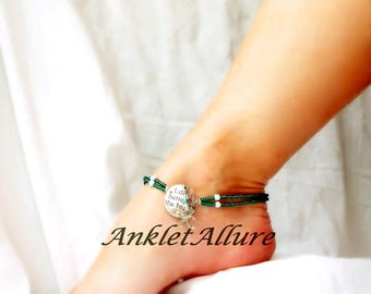 Anklet Anklets Lifes Better At The Beach Anklet Starfish Ankle Bracelet Double Anklet Teal Anklet GUARANTEED Ankle for Women