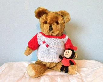 """Vintage Bear 17"""" - Lefray Bear - 1950's Toy - Mohair Bear"""