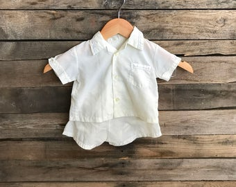 SUPER SALE  - Vintage Children's Off White Short Outfit