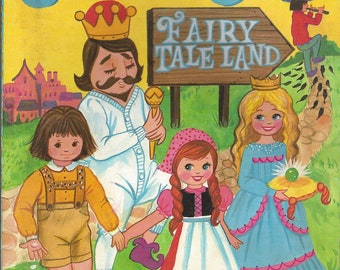 Vintage Fairy Tale Land Modern Promotions Jumbo Coloring Book, C1970s